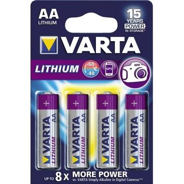 Batterie Mignon AA Varta Professional Lithium Lithium, FR1405, 1,5 V, 2.900 mAh, 4 St./Pack