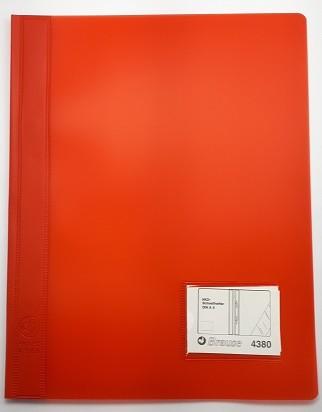 Schnellhefter Plastik A4 rot Deckel rot
