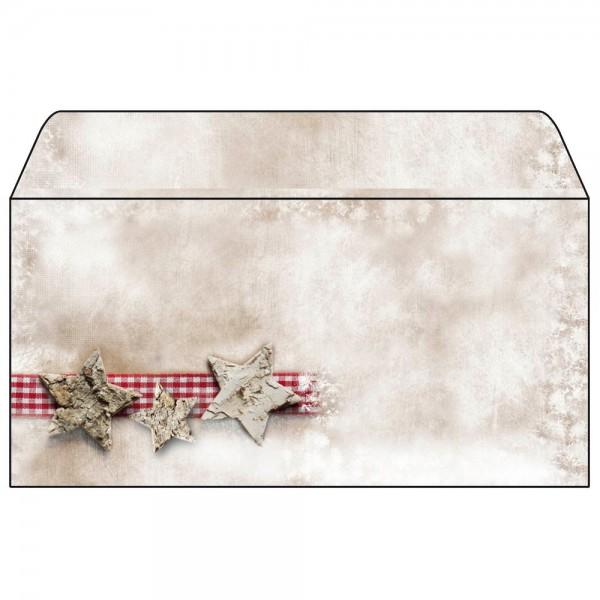 Briefumschläge DL 90g/m² Winter Chalet 25 Bl./Pack , Weihnachtsmotiv