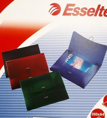 ABLAGEBOX INTENSE A4 ESSELTE SCHWARZ M.DRUCKKNOPF/CD-TASCHE/RÜCKENBR.40MM