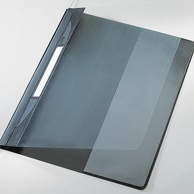 Schnellhefter A4 PVC Leitz Exquisit grau Format: 252 x 318 mm Überbreite