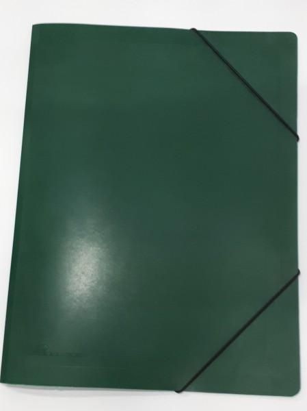 Sammelmappe mit Gummizug grün