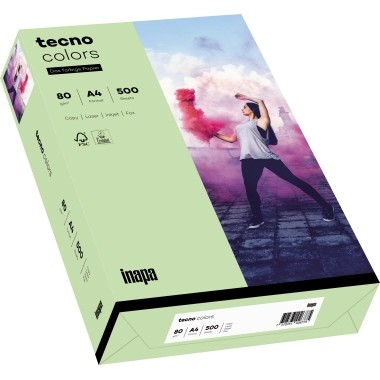 Kopierpap. A4 80g/m² mittelgrün (75) 500 Bl./Pack Skyrainbow Color / Tecno Colors