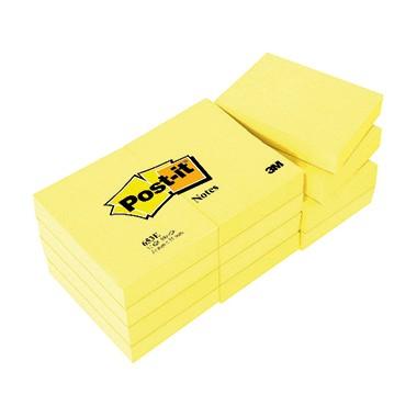 Haftnotiz 38x51mm Notes gelb 100 Bl./Block 12 Blöcke/Pack, Post-it®
