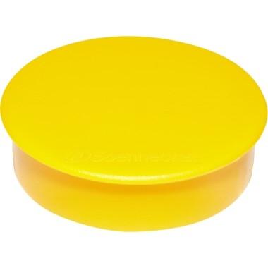 Magnete 38mm rund Tragfähigkeit 2,5 kg gelb 10 St./Pack