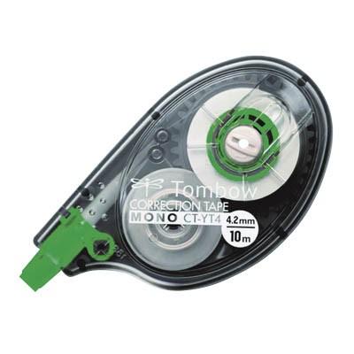 Korrektur Einweg Roller Tombow MONO YT4 4,2mmx10m Gehäuse grau transluzent,seitliche Anwendung