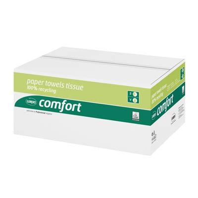 Falthandtücher 25x23cm 2-lagig Z-Faltung hochweiß Inhalt 3200 Bl./Karton , WEPA Comfort