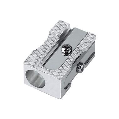 Spitzer Blockform Kyome Aluminium silber Stiftdurchmesser: 8 mm, inkl. Ersatzmesser