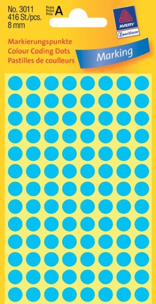 Etiketten 8mm blau 416 St./Pack Markierungspunkt