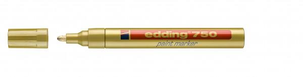 Edding Lackmalstift 750 permanent gold Rundspitze , Strichstärke: 2-4 mm