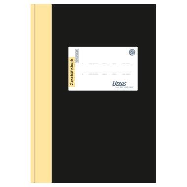 Geschäftsbuch A4 80 g/m² kariert 96 Blatt Einband schwarz