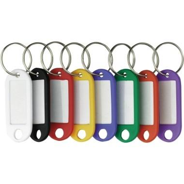 Schlüsselanhänger ALCO farbig sortiert 200 St./Pac Kunststoff,Beschriftungsfeld auswechselbar