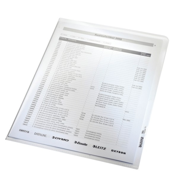Sichthüllen A4 farblos 0,16 mm PP-Hartfolie mit Kantenschweißnaht