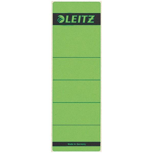 Rückenschilder f.1080 breit/kurz grün 10 St./Pack Maße:61,5x192mm (BxH),selbstklebend
