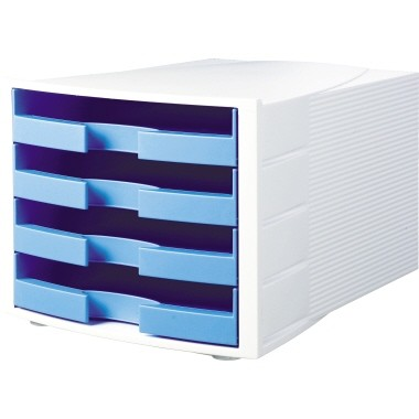 Schubladenbox HAN IMPULS Trend Colour hellblau 4 offene Schubfächer
