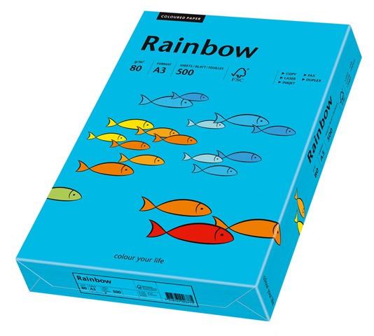 Kopierpap. A3 80 g/m² blau 500 Bl./Pack Rainbow Coloured