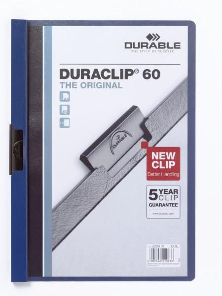 Klemmappen A4 Duraclip 60 f.60 Blatt dunkelblau 07