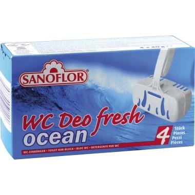WC-Duftstein Ocean SANOFLOR 4 St./Pack