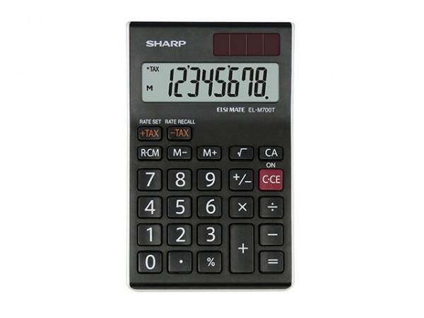 Taschenrechner Sharp EL-M700TWH 8-stellig schwarz