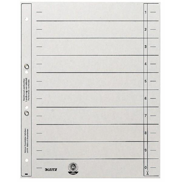 Trennblätter mit Ösen grau 100 St./Pack