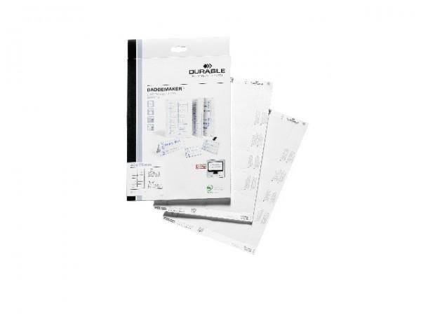 EINSTECKSCHILDER BADGEMAKER A4 F.NAMENS- SCHILDER 40X75MM / 240 STÜCK