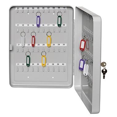 Schlüsselschrank ALCO f. 30 Schlüssel lichtgrau Maße: 16 x 20 x 8 cm (B x H x T)