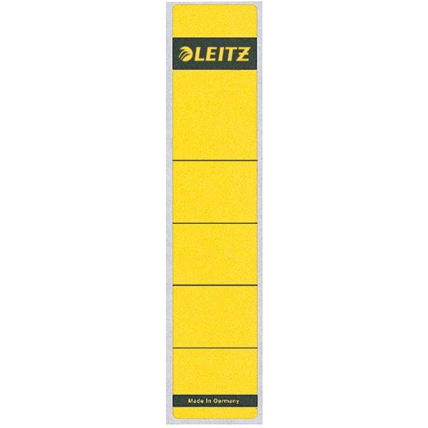 Rückenschilder f.1050 kurz/schmal gelb 10 St./Pack Maße:39x192mm (B x H),selbstklebend