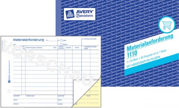 Zweckform Materialanforderung A5 2x 50 Blatt