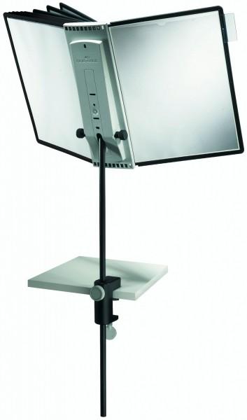 Sichttafelsystem SHERPA Display System Desk Clamp Tischstativ mit Tafelträger und 10 Tafeln