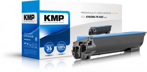 Lasertoner Gr.2886 kompatibel f. Kyocera TK-540C Druckleistung ca. 4.000 Seiten, KMP rebuilt