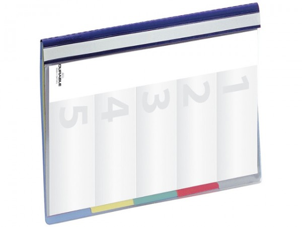 Schnellhefter A4 Divisoflex blau 5fach Unterteilung und Heftung