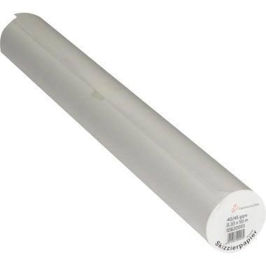 Skizzierpap. 40/45 g/m² 33cmx50m transparent