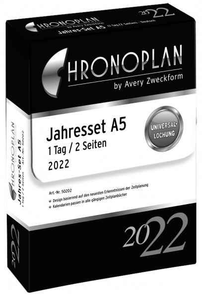 Chronoplan Jahres-Set A5 2022
