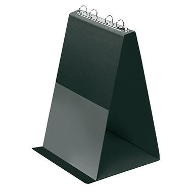 Tischflipchart A4 hoch Veloflex schwarz 4 Ringe, inkl.10 Hüllen