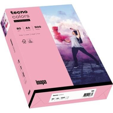 Kopierpap. A4 80g/m² rosa (55) 500Bl./Pack Rainbow / Tecno Colors