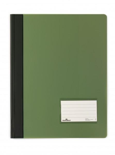 Schnellhefter A4 DURALUX grün Überbreite mit Innentasche