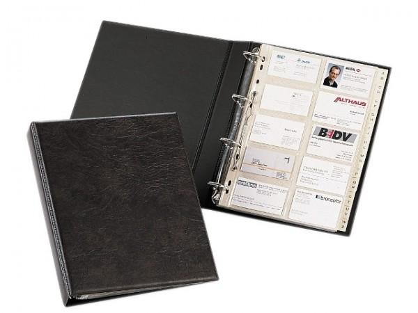 Visitenkartenringbuch A4 VISIFIX braun max. Anzahl der Karten: 400 Karten