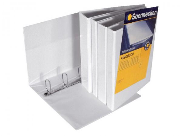 Präsentationsringbuch A4 4-Ring Rückenb. 70mm Soennecken , weiß