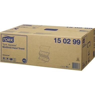 Falthandtücher 21,3x23,4cm 2-lagig Recycling weiß 20x237 Tücher, Karton 4740 Tücher,Interfold Falz