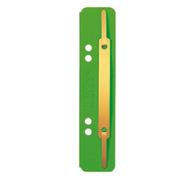 Heftstreifen kurz Papier grün 250 St./Pack Format: 35 x 158 mm, Deckschiene Metall