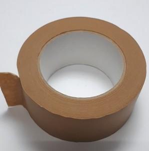 Packband Papier 50mx50mm braun mit Faden selbstklebend