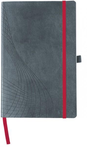 Notizbuch A4 kariert 90 g/m² 80 Bl. Einband grau Notizio , Softcover