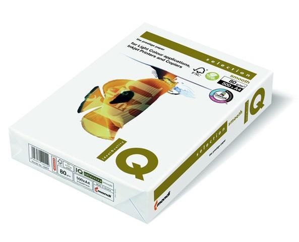 Kopierpap. A4 80g/m² IQ Selection Smooth FSC Zertifiziert 500 Bl./Pack