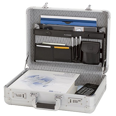 Aktenkoffer ALUMAXX® TAURUS silber Außenmaße: 46 x 35 x 16 cm (B x H x T)