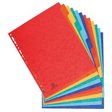 Reg. A4 blanko 12 Registerblätter farbig sortiert Maße:27,4x32,7cm (B x H) Überbreite