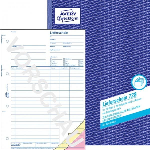 Zweckform Lieferschein A4 3X50 Blatt