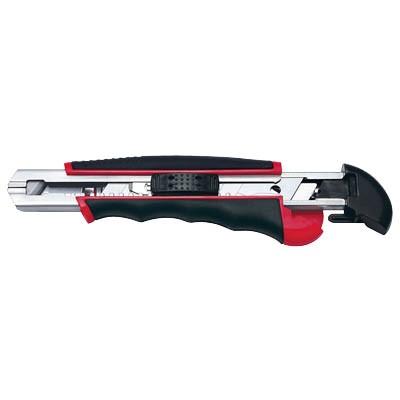 Cutter 18mm Wedo Auto Load schwarz/rot inkl. 6 Ersatzklingen im Magazin