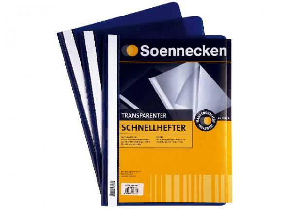 Schnellhefter A4 Soennecken 2975 dunkelblau Packung 10 Stück Polypropylen