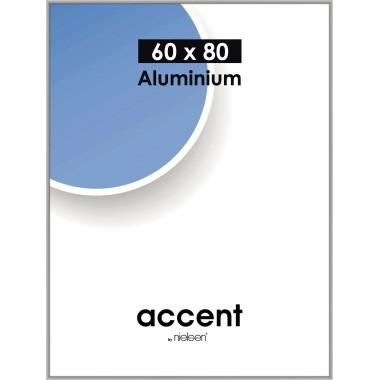 Bilderrahmen Nielsen accent 60x80cm (BxH) Material des Rahmens: Aluminium matt silber