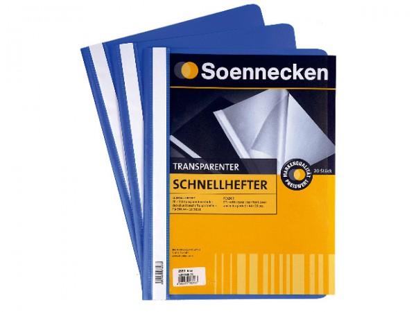 Schnellhefter A4 Soennecken 2965 blau Packung 10 Stück Polypropylen